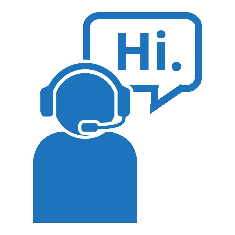 Customer Service Icon Hi_blue